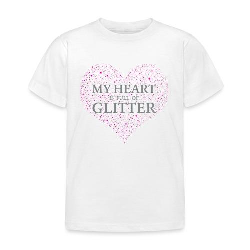Glitzer Herz - Kinder T-Shirt