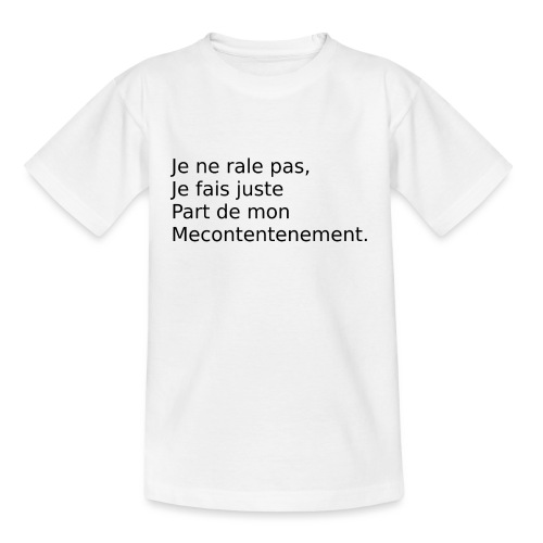 Mecontent - T-shirt Enfant