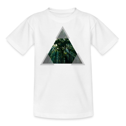 Triangle Forest window - Kids' T-Shirt
