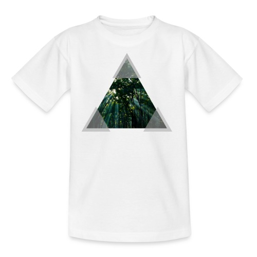 Triangle Forest window - Kids' T-Shirt