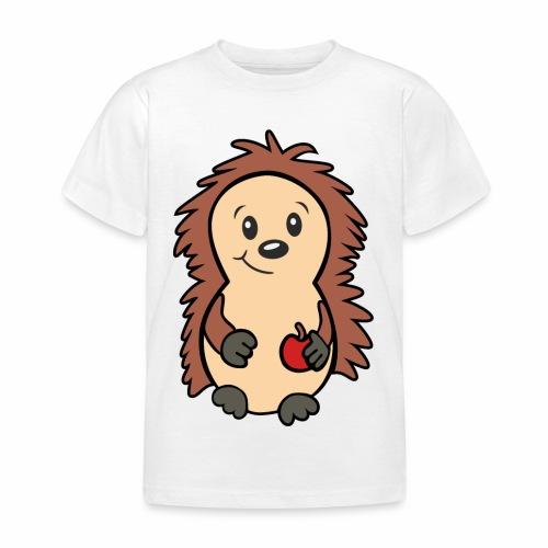 Igel mit Apfel in der Hand - Kinder T-Shirt