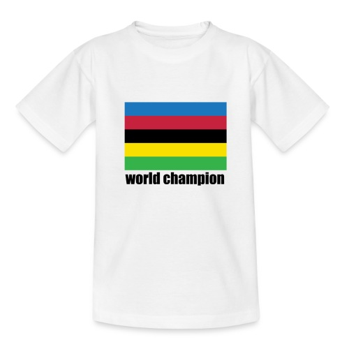 world champion cycling stripes - Kinderen T-shirt