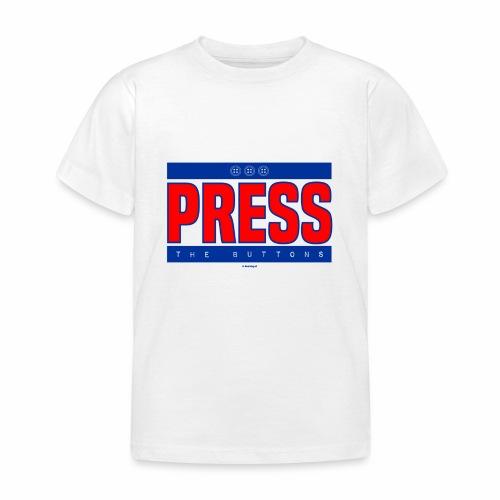 Press the buttons - Kinderen T-shirt