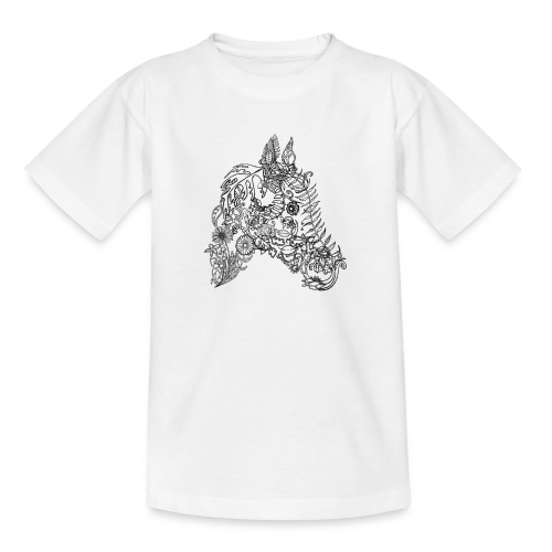 Blumenpferd transp png - Kinder T-Shirt