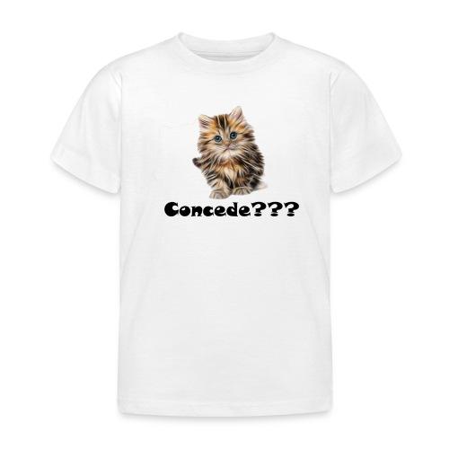 Concede kitty - T-skjorte for barn