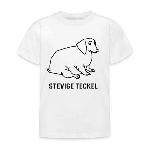 Stevige Teckel - Kinderen T-shirt
