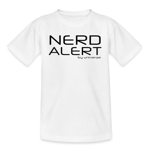 Nerd Alert - Hvid - Børne-T-shirt