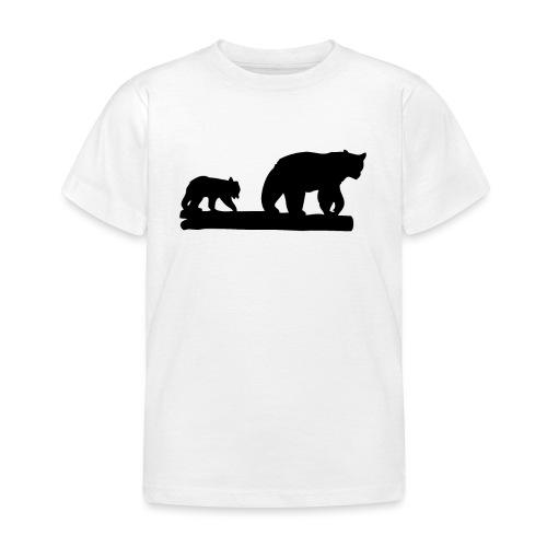 Bären Bär Grizzly Wildnis Natur Raubtier - Kinder T-Shirt