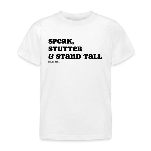 Speak, stutter & stand tall # WHITE/GRAY - T-shirt barn
