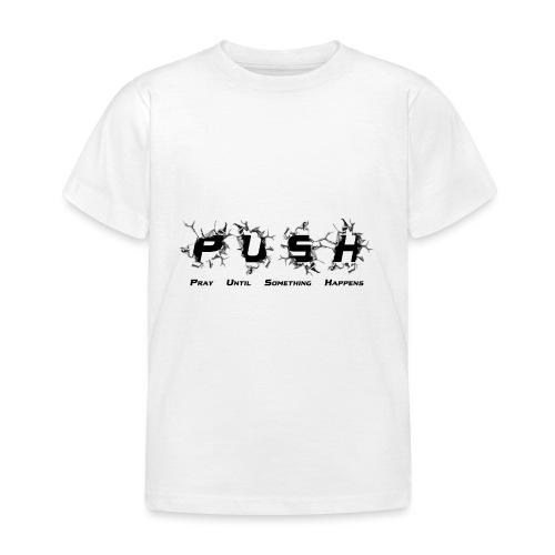 PUSH Black TEE - Kinder T-Shirt