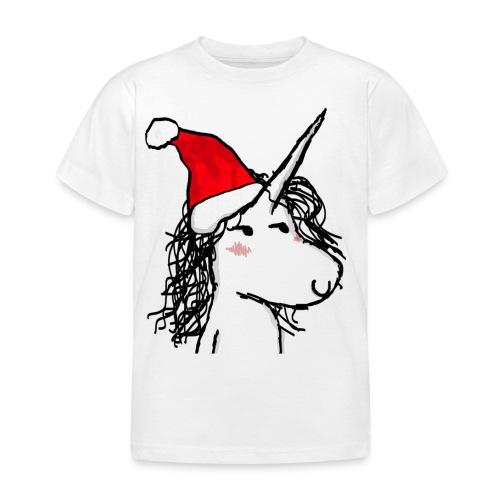 unicorno Natale - Maglietta per bambini