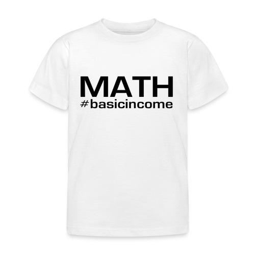 math-black - Kinderen T-shirt