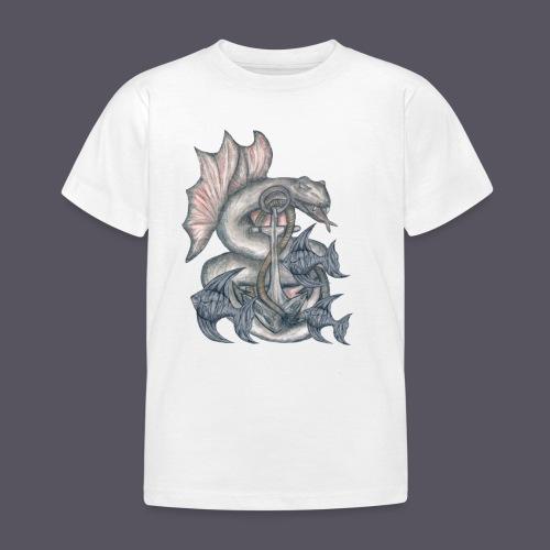 farbiges Meeresungeheuer - Kinder T-Shirt