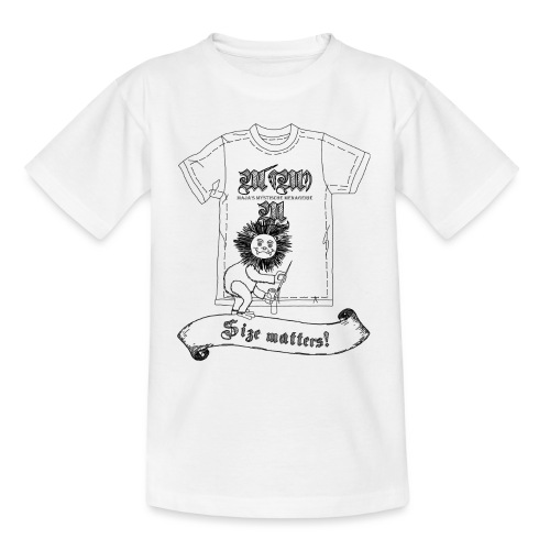 Size matters (Karlchen die Kalorie) - Schwarz - Kinder T-Shirt