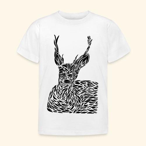 deer black and white - Lasten t-paita