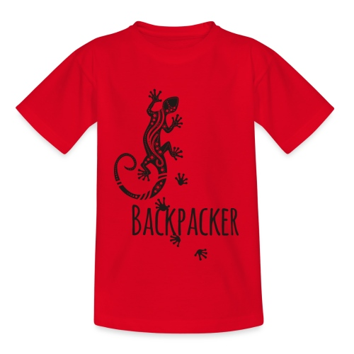 Backpacker - Running Ethno Gecko 1 - Kinder T-Shirt
