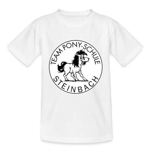 TeamPonySchule Steinbach sw png - Kinder T-Shirt