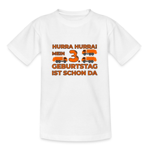 Trzecie urodziny śmieciarka - Koszulka dziecięca