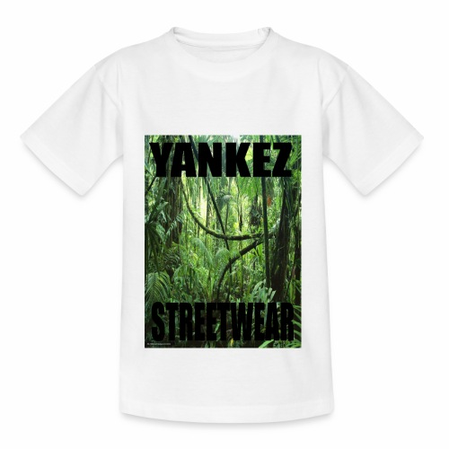 Yankez Backprint Jungle - Kinder T-Shirt