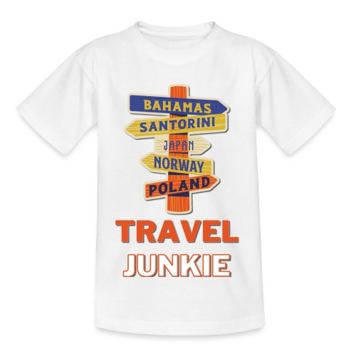 traveljunkie - i like to travel - Kinder T-Shirt