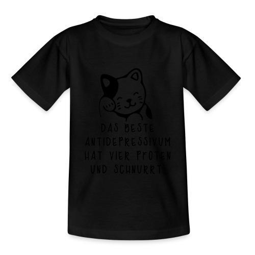 Katzen sind das beste Antidepressivum - Kinder T-Shirt