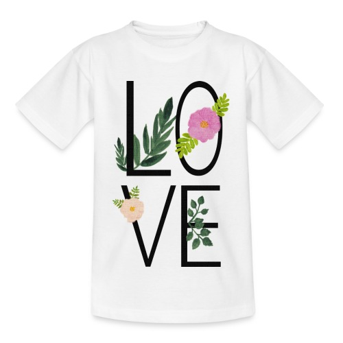Love Sign with flowers - Kids' T-Shirt