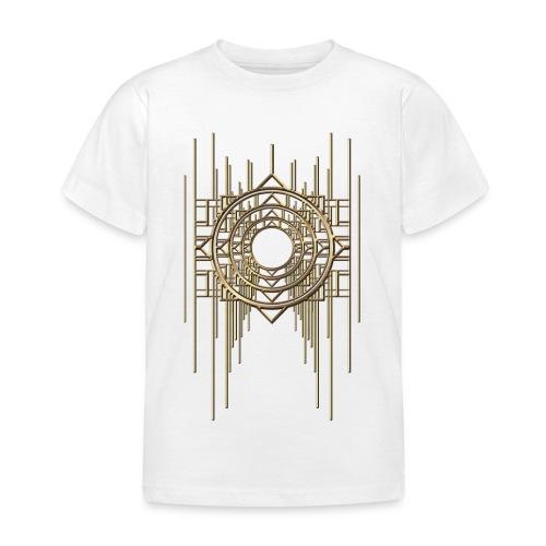 Abstract Geometry Gold Metal Art Deco Vintage - Kids' T-Shirt