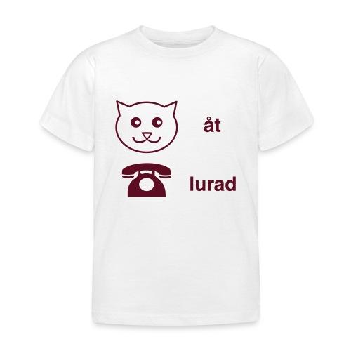 Katt åt telefon - T-shirt barn