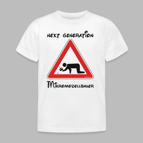 Warnschild Mikromodellbauer Next Generation - Kinder T-Shirt