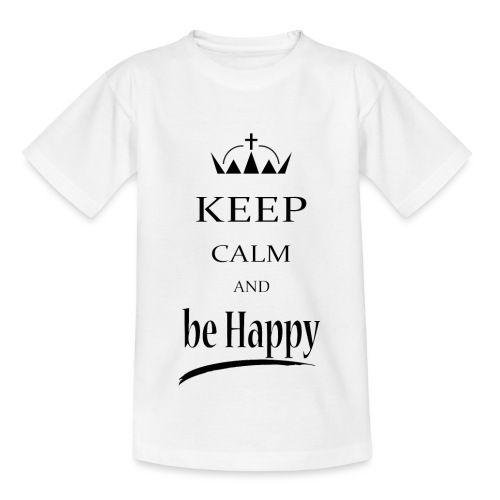 keep_calm and_be_happy-01 - Maglietta per bambini