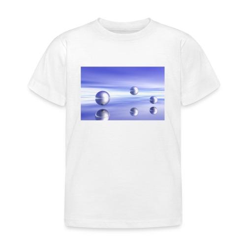 Kugel - Landschaft in 3D - Kinder T-Shirt