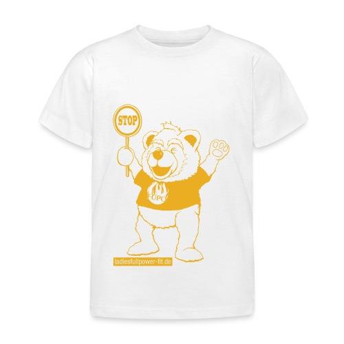 FUPO der Bär. Druckfarbe Orange - Kinder T-Shirt
