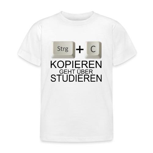 Kopiert - Schwarz - Kinder T-Shirt