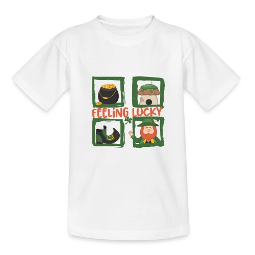 feeling lucky - stay happy - St. Patrick's Day - Kids' T-Shirt