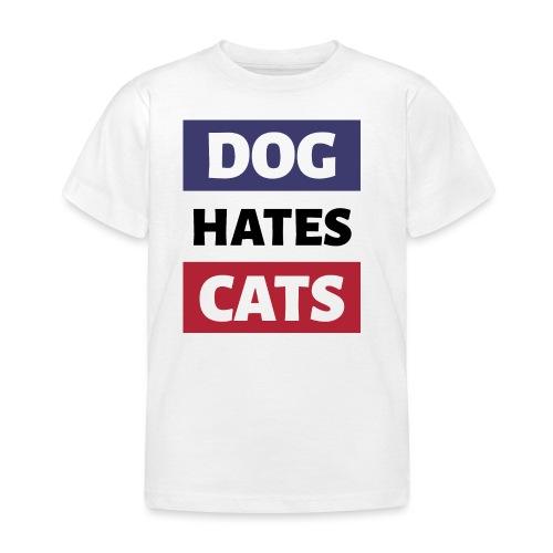Dog Hates Cats - Kinder T-Shirt