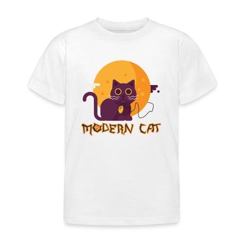 gatto moderno animale topo luna arte animale domestico - Maglietta per bambini