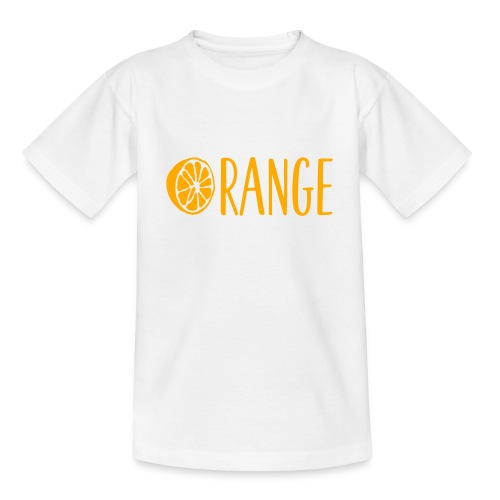 Orange Lettering - Kinder T-Shirt