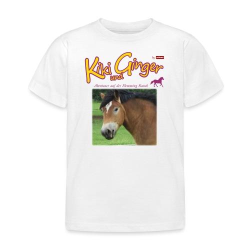 patame Kiki und Ginger mit Golden Sky weiss - Kinder T-Shirt