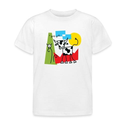 vache-noir-et-blanc et couleurs - T-shirt Enfant