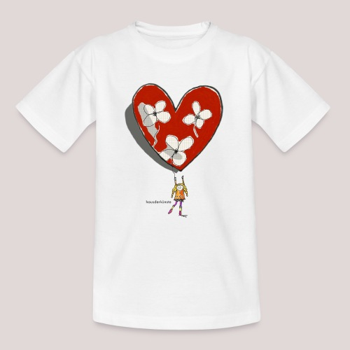 little girl with heart - Maglietta per bambini