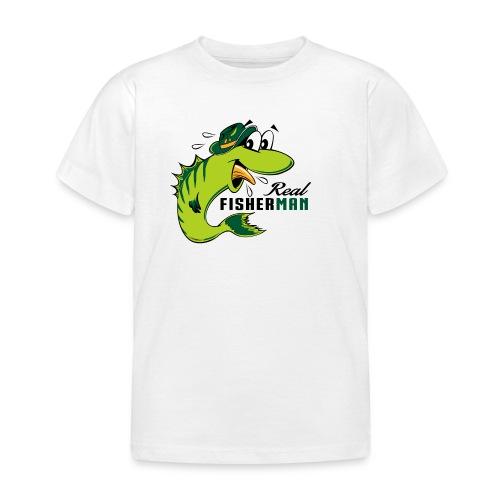 10-38 REAL FISHERMAN - TODELLINEN KALASTAJA - Lasten t-paita