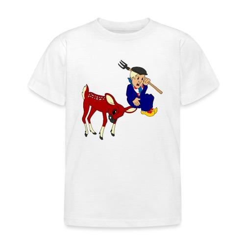 hert vs boer kind - Kinderen T-shirt