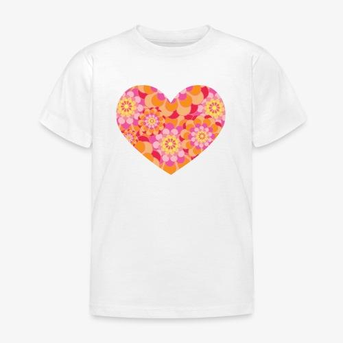 Floral Hearts - Kids' T-Shirt