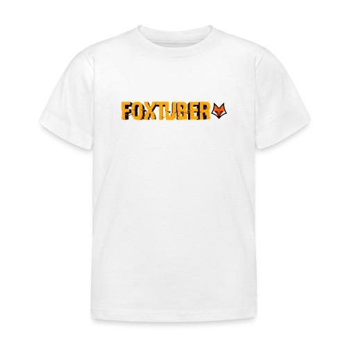 foxtuber naam + logo - Kinderen T-shirt