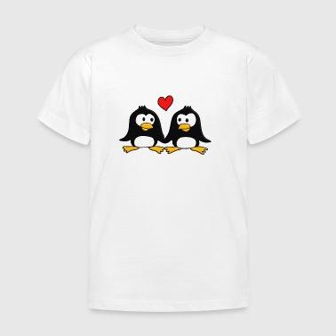 2 verliebte Pingus :) - Kinder T-Shirt