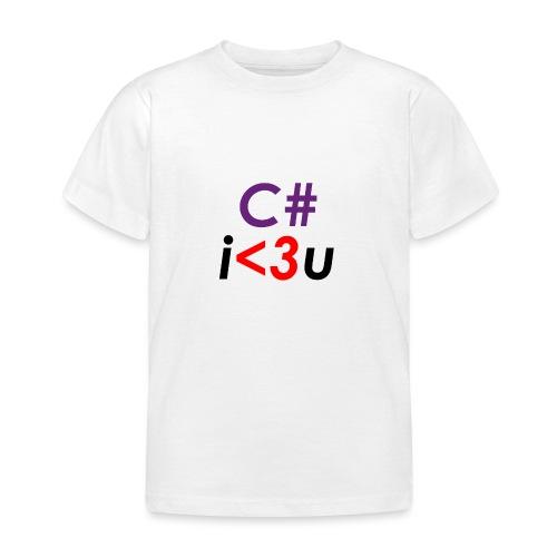 C# is love - Maglietta per bambini