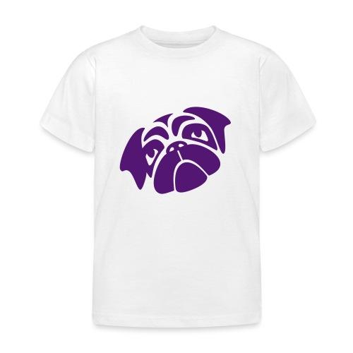 Mops mit schiefen Gesicht - Kinder T-Shirt