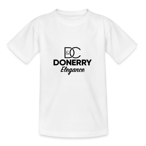 Donerry Elegance Black Logo on White - Kids' T-Shirt