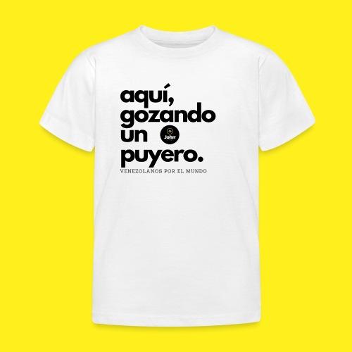 aqui gozando un puyero - Camiseta niño