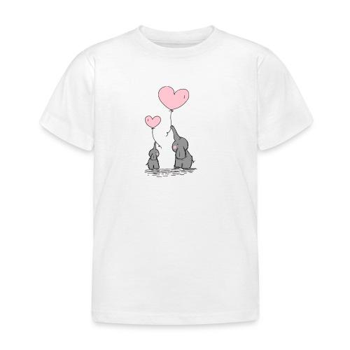 Éléphant Amoureux - T-shirt Enfant